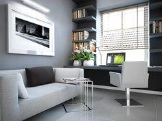 Pomysł na aranżację pokoju z biurkiem pod oknem Furniture, Room, Modern Room, Small Spaces, Home Office, Sitting Room, Table, Home Decor, Coffee Table