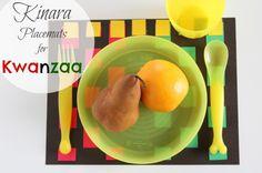 Kinara Placemats for Kwanzaa makeandtakes.com #kids #holiday