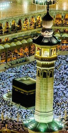Pilgrimage to Mecca in Saudi Arabia. Mecca is regarded as the holiest city in the religion of Islam and a pilgrimage to it is obligatory for all able Muslims. Islamic Images, Islamic Pictures, Islamic Art, Medina Mosque, Mecca Kaaba, Mecca Wallpaper, Masjid Al Haram, Mekkah, Beautiful Mosques