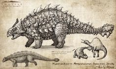 Hyperendocrin Ankylosaurus by EmilyStepp