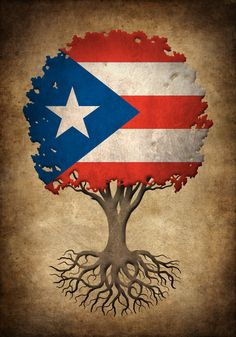 Vintage Tree of Life with Flag of Puerto Rico Art Print by Jeff Bartels - X-Small Puerto Rican Flag, Puerto Rican Culture, Puerto Rico History, Art Painting Gallery, Flag Art, Puerto Ricans, Paint Party, Tree Of Life, Art Prints