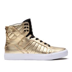 SUPRA SKYTOP LS | GOLD - WHITE | Official SUPRA Footwear Site - they should be mine!
