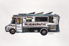 Truck I Linocut Eric Rewitzer 3 Fish, Studios, Trucks, Artists, Artwork, Work Of Art, Auguste Rodin Artwork, Truck, Artworks