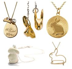 I live for all Bunny jewelry   These pieces by:  Becca , Tina Lilienthal , Tina Tang  MeMeMe , Katie Hillier