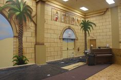 huge wall mural I helped paint at the Jericho Shiners Temple with my mentor and friend Gary Bortz. This was a huge 5000sq foot room with 20ft walls and we painted every sq inch..love it :)
