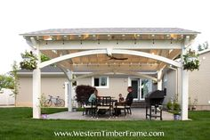 This luxury timber DIY Pavilion Kit provides a spacious outdoor living space that is elegant and yet inviting,..