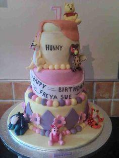Winnie the Pooh 3 tier cake