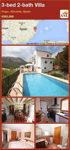 3-bed 2-bath Villa in Pego, Alicante, Spain ►€282,000 #PropertyForSaleInSpain