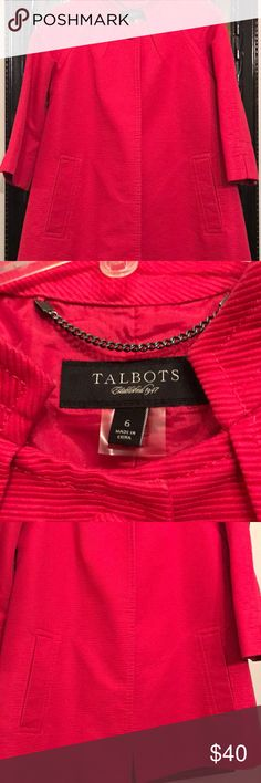 Talbots lined jacket Beautiful lined coat. Mint condition. Smoke and pet free home Talbots Jackets & Coats