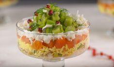 Такой салат станет отличным украшением праздничного стола.