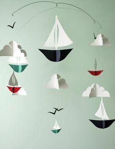 Nursery decoration themselves make figures boat
