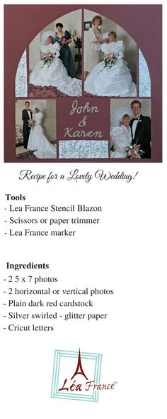 Lovely Wedding Layout by Karen Morley Lea France Designer
