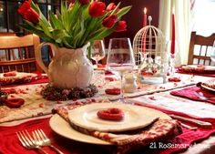 21 Rosemary Lane: St. Valentine's Day Tablescape and Vignette