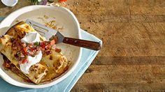 Egg, Sausage and Pepper Breakfast Enchiladas Recipe