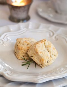These Smoked Gouda and Rosemary Scones are a savory treat at teatime.