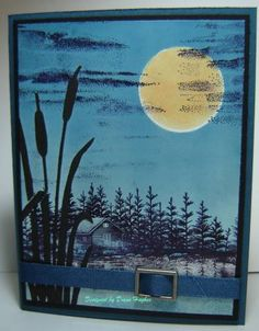 Stampscape with cattails