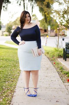 Elsa inspired look featuring @eloquii 's GORGEOUS light blue leather skirt. It's so FABULOUS.