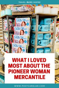 A list of 12 things we love about The Pioneer Woman Ree Drummonds Mercantile in Pawhuska Oklahoma including the prices the tiny Pioneer Woman bowls and Edna Maes pancakes. Drummond Ranch, Ree Drummond, Pawhuska Oklahoma, Pioneer Woman Kitchen, The Pioneer Woman, Blackberry Tea, Pioneer Woman Recipes, Travel Oklahoma, Vegan Sandwiches