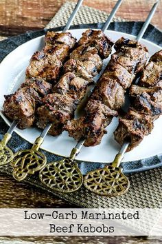 This favorite recipe for Low-Carb Marinated Beef Kabobs is something I used to make at Lake Powell.