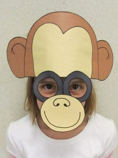 This is another zoo animal to add to the collection. Make this with your students as you study animals or take a field trip to a local zoo. Zoo Animals, Animals For Kids, Zoo Phonics, Monkey Mask, Sentence Strips, Animal Face Mask, Hat Crafts, Face Masks For Kids, Cute Monkey