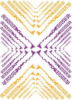 Contraste Complementario y simetría especular con traslación.