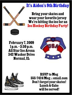 Free Power Ranger Birthday Invitations FREE Printable Invitation - Free birthday invitation templates hockey