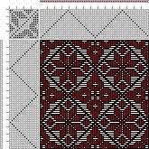 Threading Draft from Divisional Profile, Tieup: 16 Harness Patterns - The Fanciest Twills of All, Draft #34734, Threading: Weber Kunst und Bild Buch, Marx Ziegler, (1677) # 12, Treadling: Weber Kunst und Bild Buch, Marx Ziegler, (1677) # 12, 16S, 16T