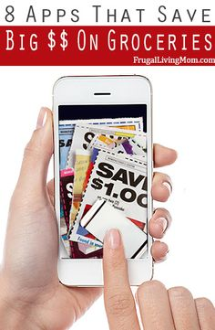 Apps for Your Smartphone That Save Big Money on Groceries Want to save more money at the grocery store? You can do it with your smartphone!Want to save more money at the grocery store? You can do it with your smartphone! Ways To Save Money, Money Tips, Money Saving Tips, Saving Ideas, How To Make Money, Dave Ramsey, Vida Frugal, Planning Menu, Couponing For Beginners