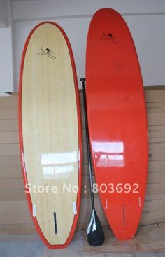 """2012  hot sell  bamboo sup board   Free shipping10'6"""" clear bamboo / wood stand up paddle board    carbon paddle on AliExpress.com. $849.99"""