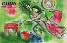 Paris L'Opera by Marc Chagall from 1965 France