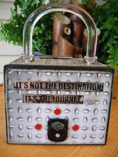 handmade cigar box purse...Harley backside