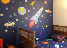 after seeing this i definitely want to do a space theme bedroom when my son gets