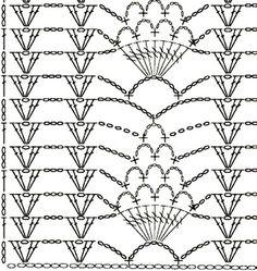 Best 12 Crochet Patterns Blusas (Video) learn how to crochet step by step now, click the photo. Crochet Diagram, Crochet Chart, Love Crochet, Filet Crochet, Beautiful Crochet, Crochet Curtains, Crochet Doilies, Crochet Lace, Crochet Hook Sizes