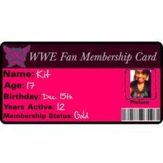 """WWE Membership Card (fill in)"" by ittybittykittyy on Polyvore"