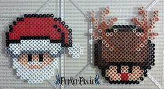 Santa and Rudolph Mushrooms by PerlerPixie on DeviantArt