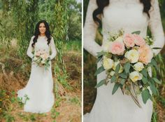 rose & seeded eucalyptus bouquet | Lena + Sergey Married | Kirkland, WA » Manchik Photography