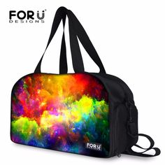 FORUDESIGNS Galaxy Style Women Travel Duffle Brand Designer Large Luggage Bags Fashion Splace Star Totes Overnigh Weekender Bags
