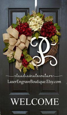 Fall WreathHydrangea WreathYear Round WreathWreath for