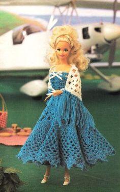 crochet barbie dress, vintage pattern
