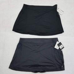9bd15810e9 NWT Champion C9 Skort Women s Duo Dry with Inner Short XXL Gray Black Set  of 2  C9Champion  AthleticSkorts