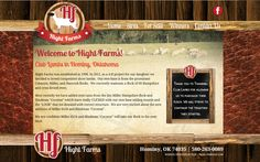 Hight Farms Website, leather website background, wood website background, parchment paper, club lambs, Oklahoma,