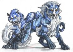 anime wolf howling | Blue Anime Wolf/tiger Photo by thunder_howling_wolve | Photobucket