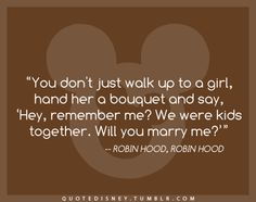Wait, you don't? I think this would really work on me. But probably only if it actually came from Robin Hood.