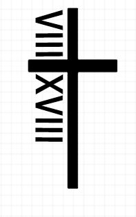 Simple, cute tattoo idea I created. Cross with roman numerals referencing Romans 8:18