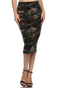 Camo Pencil Skirt | SexyModest Boutique
