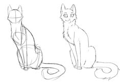 Hopefully, this helps some people! Free Line art Animal Sketches, Animal Drawings, Art Sketches, Art Drawings, Warrior Cat Drawings, Warrior Cats Art, Amazing Drawings, Funny Cats And Dogs, Cat Art