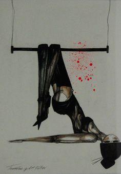 girl hanging