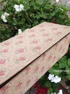 FleaingFrance.....Rose Fabric Covered Box