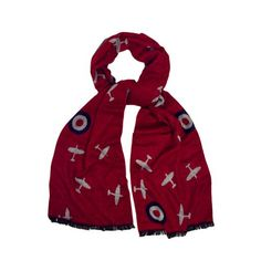 Buy Spitfire Scarf from the online shop at English Heritage. Barbour Jacket, English Heritage, Christmas Gifts For Men, Dress Up Costumes, Red Scarves, Royal Air Force, Red And Grey, Gray Color, Colour