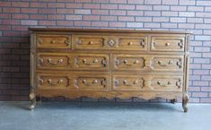This lovely dresser was made by Mt Airy Furniture, a company that began making furniture in 1895. Known for their quality manufacturing you